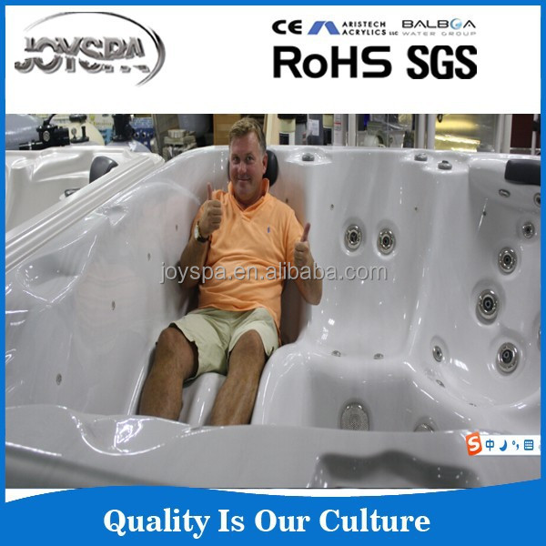 China supplier air jets sex massage hot tub with colorful underwater Led JY8018