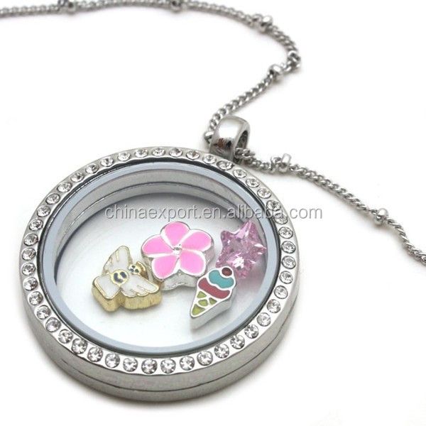 new design sterling silver glass locket charms wholesale