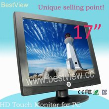 17 inch pc monitor with touch panel for desktop
