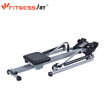 Body building equipment rowing machine AB rowing boat with sliding seat