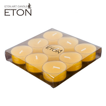 wholesale price no dripping good quality tealight candle with multi color 9pcs/pk
