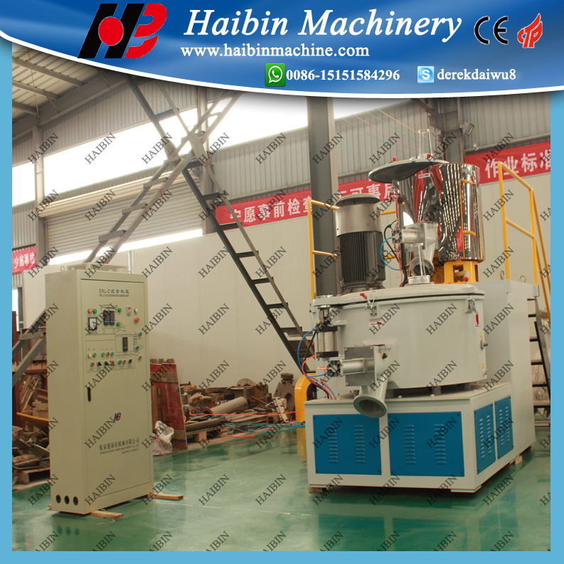 Plastic resin mixing machine/high speed mixer/PVC powder mixing machinery