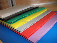 6mm 900-1600gsm moisture resistance pp corfulte hollow sheet