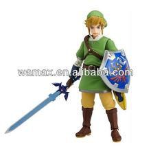 Zelda plastic battle tops toys story game figma action figures with kids swords and shields