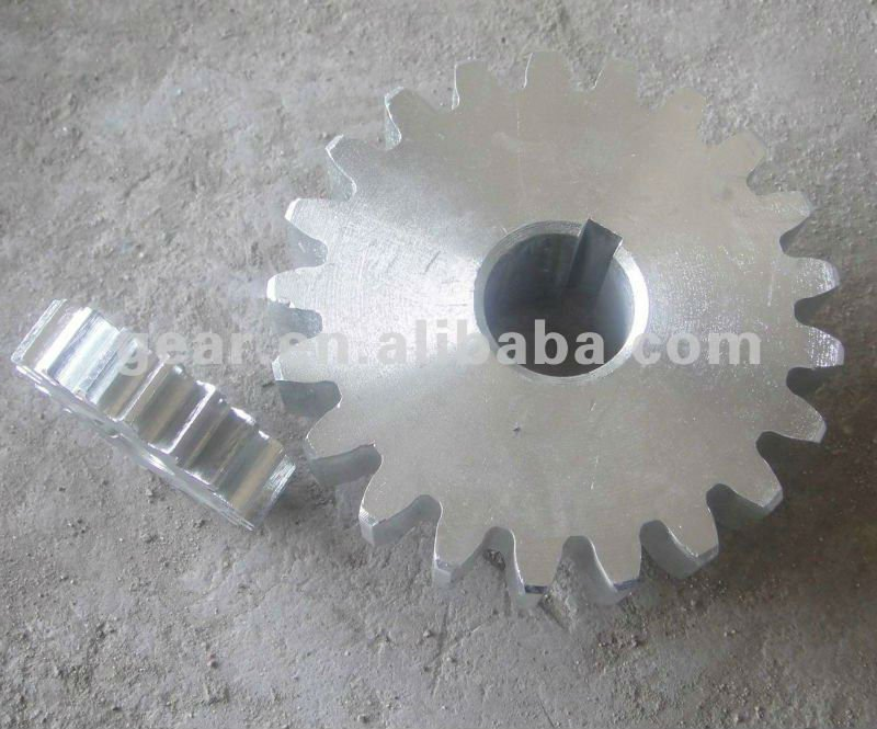zinc plating harden teeth steel forging ring gear