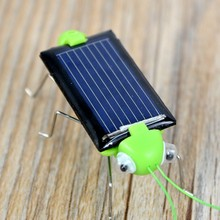 2017 Mini Solar Insect Grasshopper Bug Locust Cricket Kit For Chilren Power Robot DIY Animal Toys