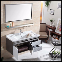 bathroom mirror cabinet with light in contemporary bathroom furniture / with breakfast bar stools