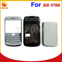 Black White Color Housing Cover Case Faceplate+Middle Plate + Back Cover Replacement For BlackBerry Bold 9700