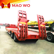 twin axle heavy duty cargo and machine transport lowbed semi trailer