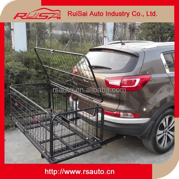 luxury car accessories guangzhou Travel hitch cargo rack with cover