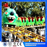 2015 high quality manufacturer amusement park funny games train roller train for kids