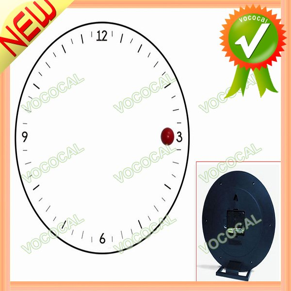 Magnetic Ball Style Decorative Digital Wall Clock Black + White