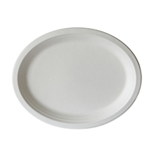 8&quot; <strong>x10</strong>&quot; sugarcane baggase oval paper plate bagasse disposable plates cheap
