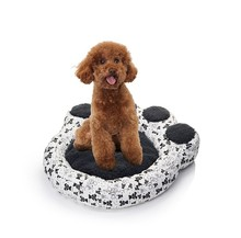 ODM design high quality black huge bear paw shape pet mat bed