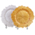 The Cheap Shinny Gold Reef Glass Charger Plate Wholesale For Wedding Decoration