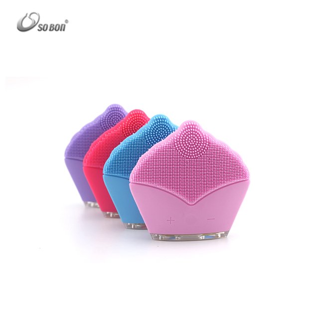 rechargeable softness silicone brush deep cleaning face and body scrubber