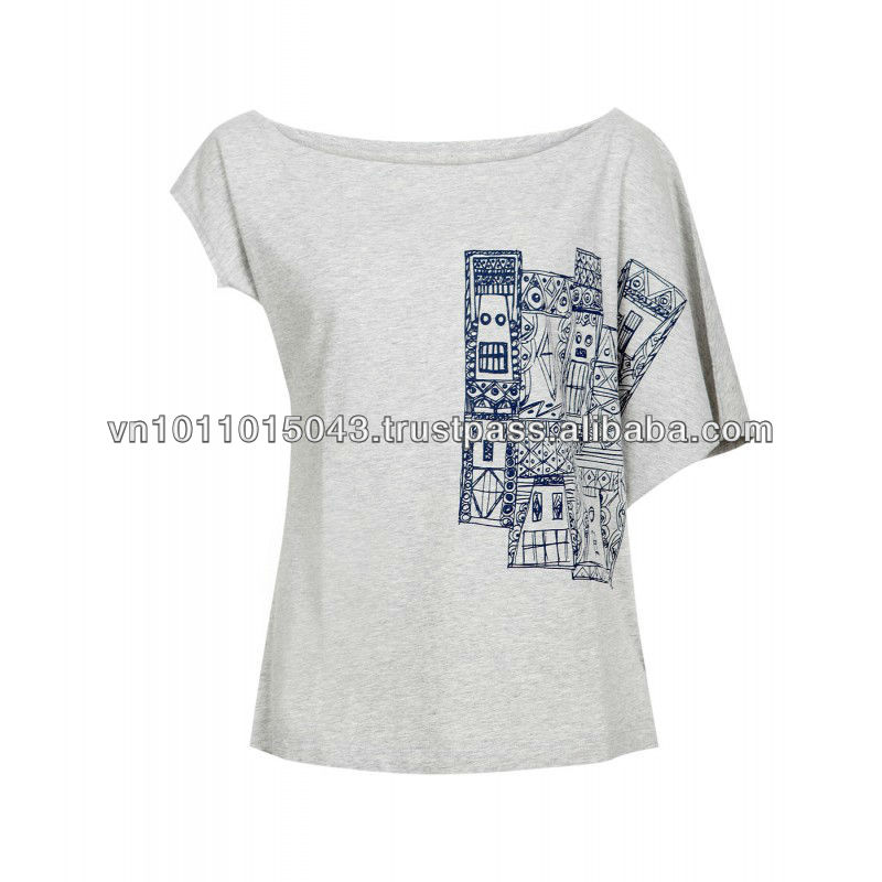 Cotton printed t-shirt for women