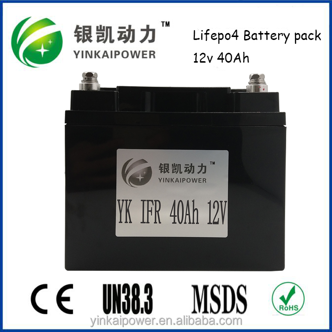 UL approval home solar system, solar storage lifepo4 12V 40ah lithium ion battery pack