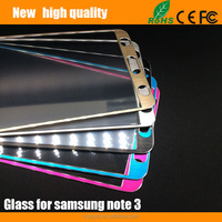 2.5D Titanium alloy brushed metal Tempered Glass Screen Protector for Samsung Galaxy Note 3