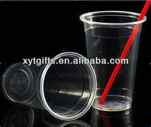Wholesale Disposable Plastic Cup With Lid And Straws
