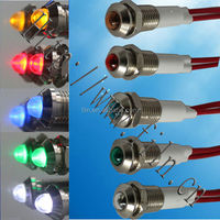 Best quality white color 12mm dimention 3mm led indicator light