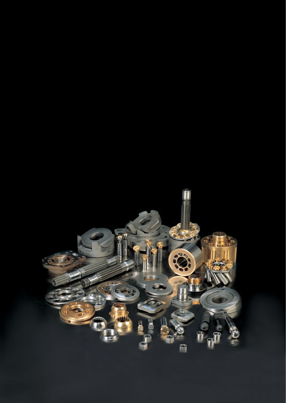 Hydraulic pump, motor parts for various excavator makers.