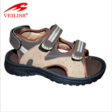 High quality leather upper rubber men sandals 2016 for beach