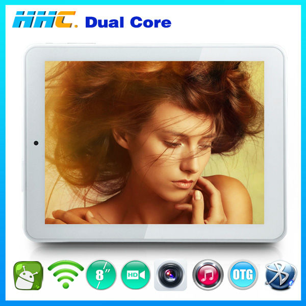 "high quality 8"" mini touch panel pc rk3066 dual core chip with external 3g module/wifi for games free download hdmi otg input"