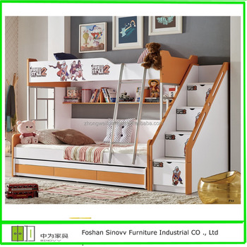 Cartoon Double Bunk Beds For ChildrenChildren Bunk Beds