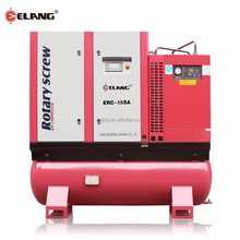 15HP silent Tank mounted Screw air compressor