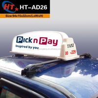 2015 NEW PP plastic taxi roof led advertising panel
