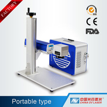 10W/20W/30W/50W cnc portable mini fiber laser engraving machine for pigeon ring engraving/screen printing