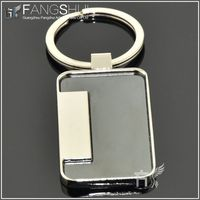 2013 blank rectangular keychain china manufacturing/new product wholesale blank metal keychains