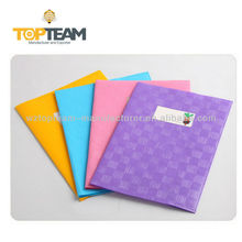 A4 A5 PP Plastic Grid Embossed School Exercise Book Cover , book jacket