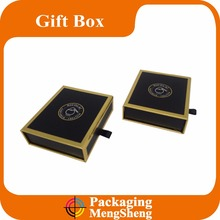 custom design logo printing luxury drawer gift box with ribbon