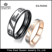 Cute Stainless Steel CZ Stone Love
