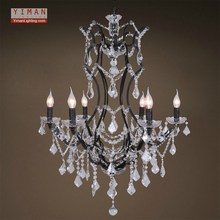 2017 five star hotel large crystal pendant lamp with chandelier lighting