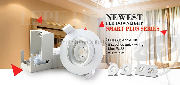 high quality dimmable led downlight warm white 2700k 0-100% dimming sharp cob led for norge