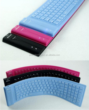 Hot product 3.0 Wirless Bluetooth waterproof Slicone Flexible keyboard