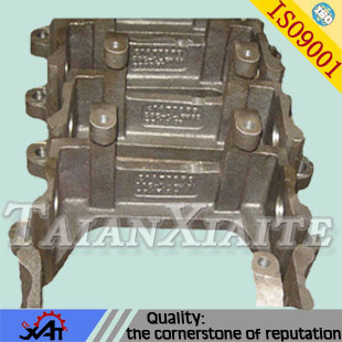 Engineering machineryleft fork-lift parts support frame bracket connecting frame made in china steel parts