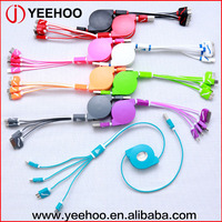 colorful 4 in 1 usb multi charge cable for apple for android smartphone
