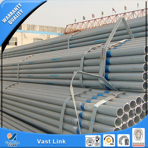 Professional hot dip galvanized steel pipe/hot dip galvanized steel pipe/welded thin wall steel pipe made in china