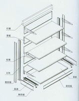 Steel Supermarket Shelving Rack