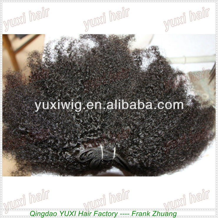 afro kinky curly virgin human hair highest quality