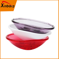 Custom Color bathroom accessories oval acrylic plastic soap dishes/soap holder
