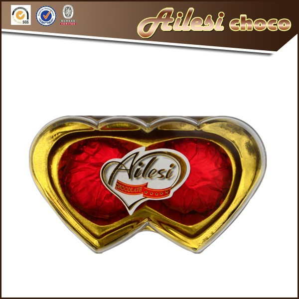 2PC Heart shape chocolate candy names/wholesale chocolate/dark chocolate