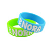personalized design rubber bracelet,logo printed silicone wristband