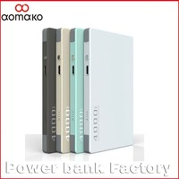 2016 High quality portable factory supply slim power bank 4000mah build in dual USB cable good for gift promotion