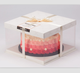 Factory Price Square Visible Clear Plastic Paper Cake Packaging Box Birthday