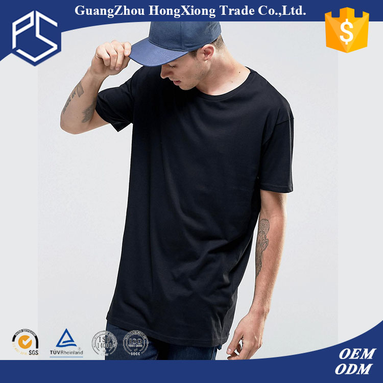 Hongxiong oem mens blank 100%cotton short sleeve leisure style wholesale t shirt fabric